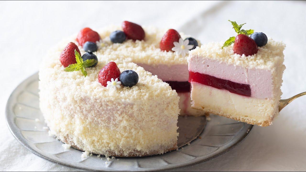 ラズベリーのドゥーブルフロマージュの作り方 Raspberry Double Fromage|HidaMari Cooking