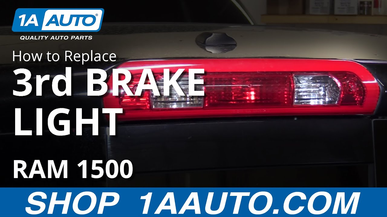 hight resolution of how to install replace third brake light and bulbs 2008 dodge ram buy auto parts at 1aauto com