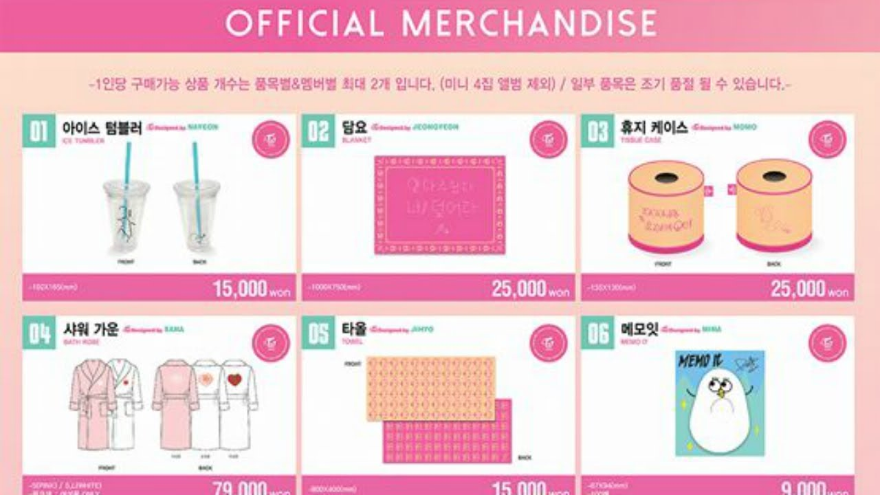 TWICELAND: The Opening Encore Official Merchandise List