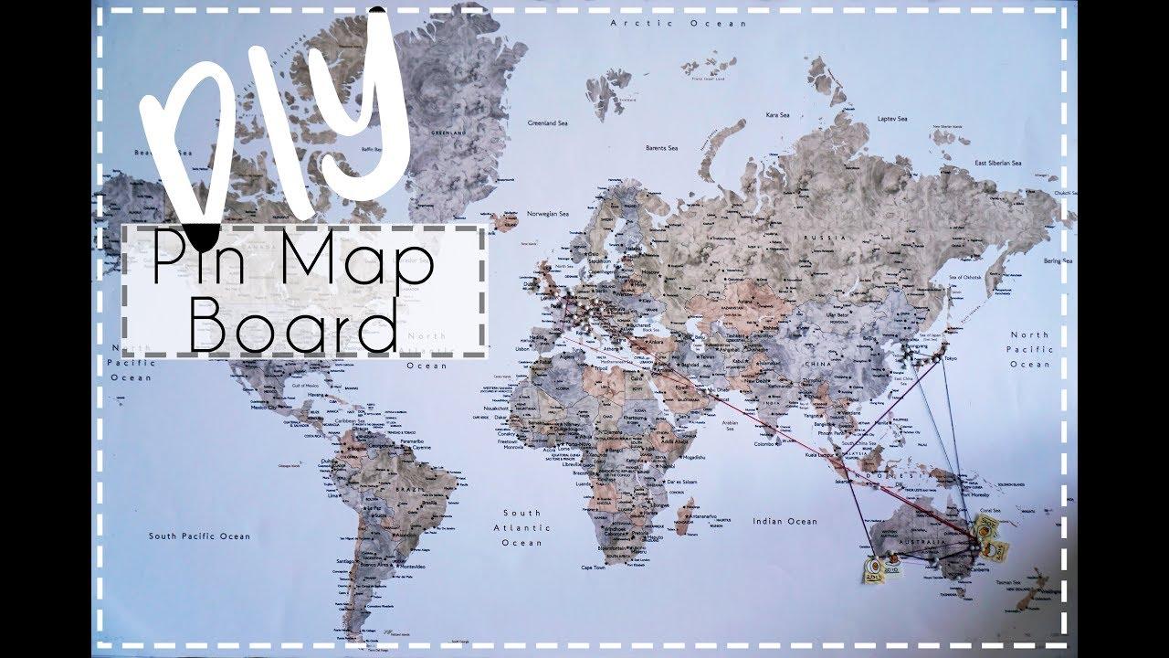 Do It Yourself Cheap Push Pin World Map Diy Youtube