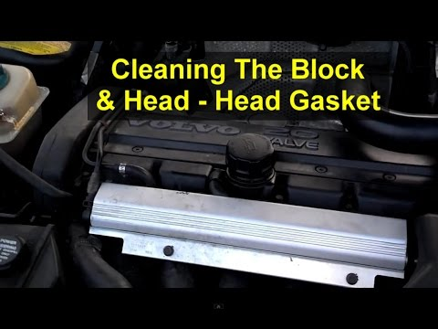 How to clean head gasket material off of your block and lower head surface. - VOTD