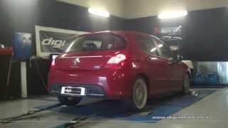 Reprogrammation Moteur Peugeot 308 hdi 150cv @ 194cv Digiservices Paris 77183 Dyno