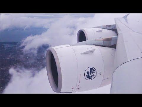 Air France A380-800 - Beautiful Smooth Landing New York JFK Airport