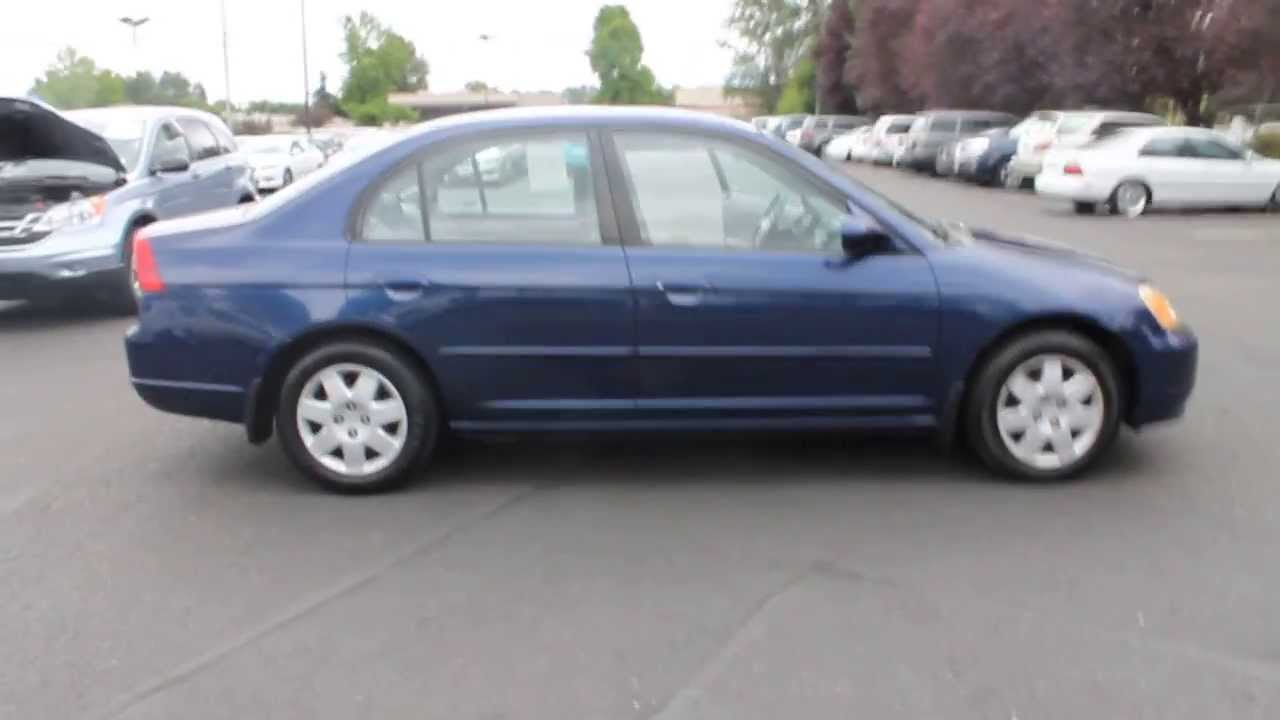 2002 Honda Civic Navy Blue  STOCK 730916  YouTube
