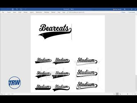 Stadium Sports Font With Tails In Microsoft Word For Designs