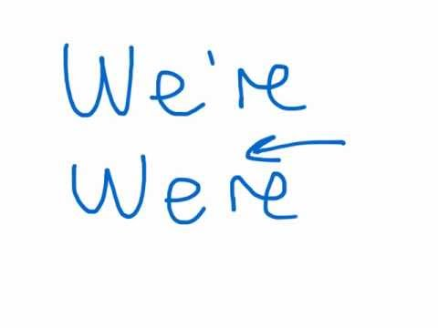 Pronunciation of we're, were and where