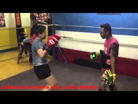 Lidwina training Muaythai at MTTC JAKARTA