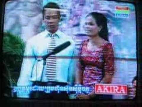 Two artists perform a song on Cambodian TV