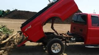 Ford F350 Dumping wood - Dump body kit