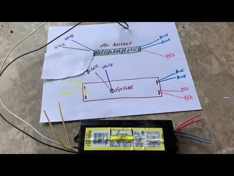 [SCHEMATICS_49CH]  Florescent ballast repair wires don't match (old) magnetic to (new)  electronic. - YouTube | T12 Magnetic Ballast Wiring Diagram |  | YouTube