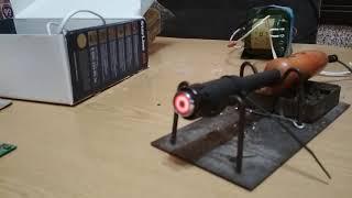 ремонт видеокарты самодельным инфракракрасным паяльником сделанного из автомобильного прикуривателя