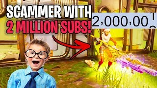 YouTuber avec deux millions de sous-marins m'arnaque!? 🤯 (Scammer Get Scammed) Fortnite Save The World