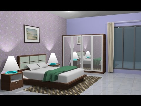 Sketchup Interior design ( Bedroom )