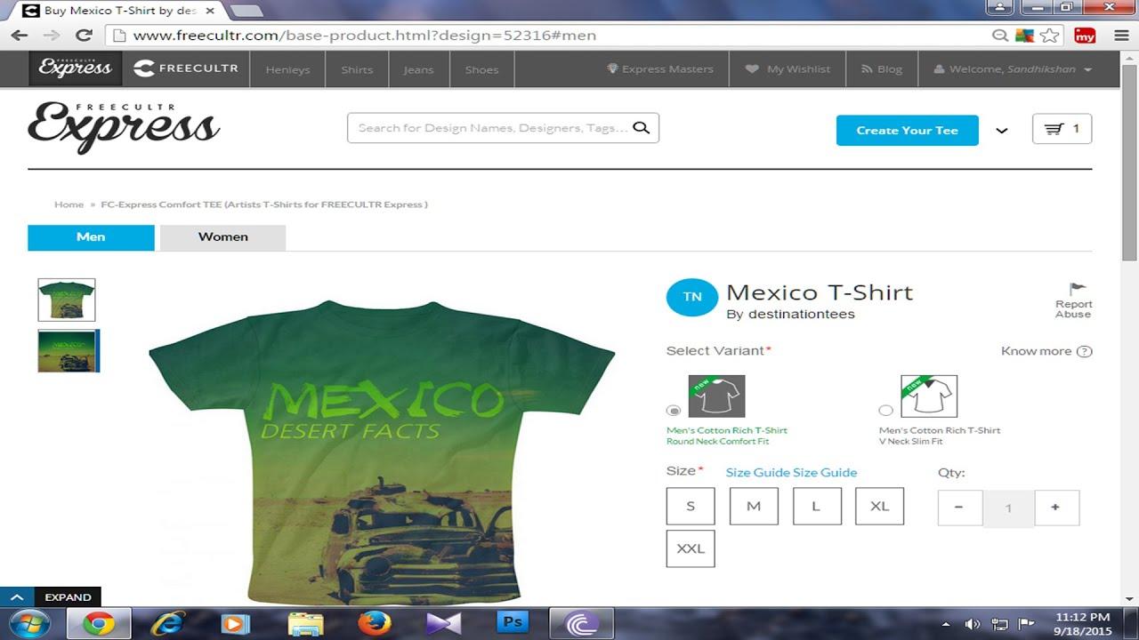 Design t shirt free software - Freeculture Express Design Printed Tshirt
