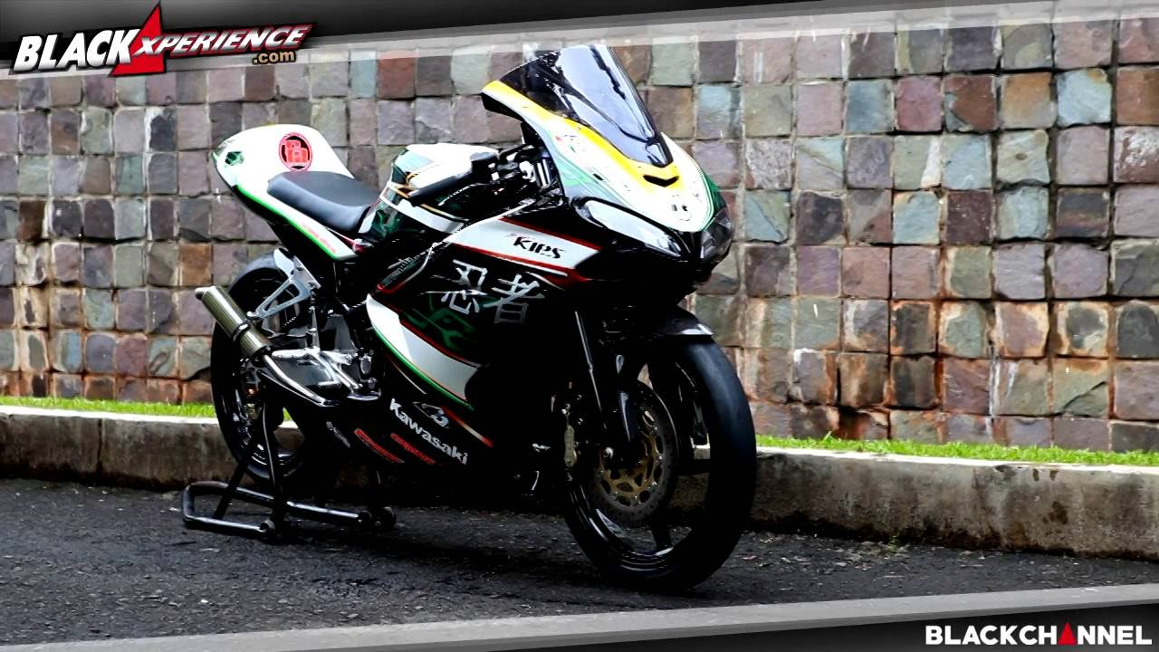 modifikasi kawasaki ninja 150 rr, racing bike - youtube