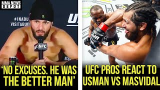 UFC Pros react to Usman vs Masvidal, Jorge on Usman, Dana, Colby reacts, UFC 251 Recap, MMA News