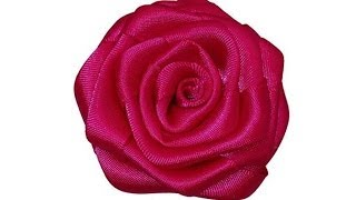 Learn to make a rolled ribbon rose in just a few minutes with just ...