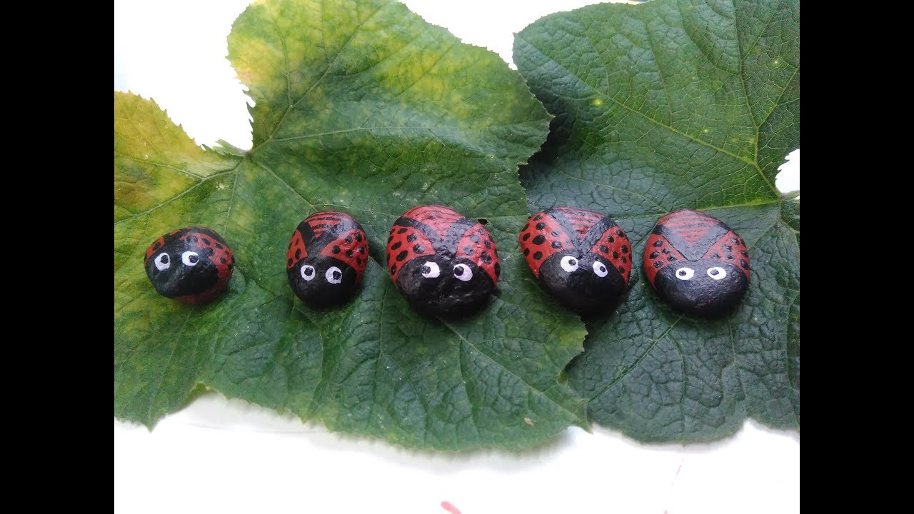 stone painting ladybug  how to do stone art  ladybug  hand craft ...