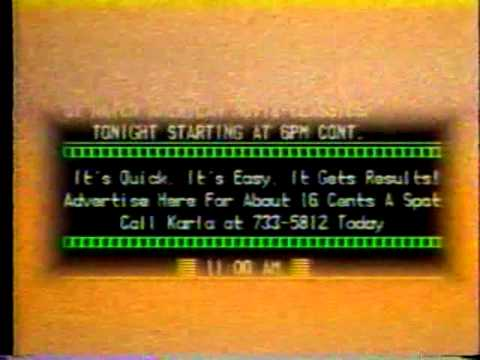 The EPG (Electronic Program Guide) ad 1988 (Cox Communications, New Orleans)