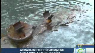 Cae submarino que movilizaba coca, con piloto automático    RCN