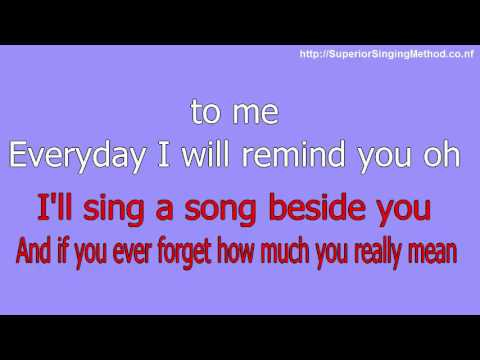 Bruno Mars - Count On Me (Karaoke With Lyrics)