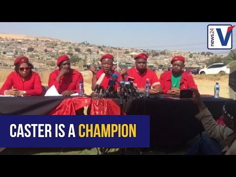 Malema to Caster: 'Make your enemies eat humble pie'