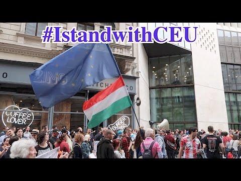 #IstandwithCEU | Thousands rally in Budapest to save CEU