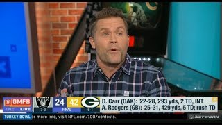 "Kyle Brandt ""harsh reaction"": Packers knockdown Raiders 42-24; Rodgers 429Yds, 5TD, Rush TD 