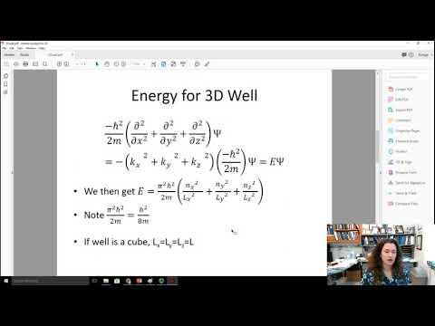 Three dimensional infinite potential well in quantum mechanics