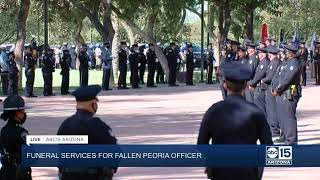 NOW: Funeral services for fallen Peoria officer