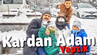 Kardan adam yaptık!! . Atatürk Arboretumu Gittik ama girmedik