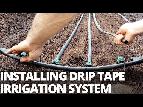 """Market Garden Irrigation Build and Walkthrough: Installing Drip Tape and 1/2"""" Poly Line"""