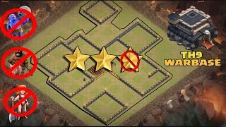 COC - TH9 -  ANTI QUEEN WALK WAR BASE- ANTI 3 STAR