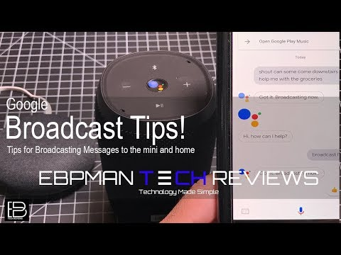 Google Home & Google Mini Broadcast Feature Explained ! Learn How to broadcast?