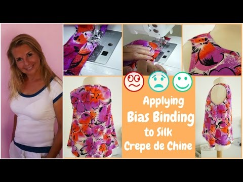 Learn how to sew - Bias binding in Crêpe De Chine - Sewing Workshop