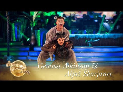 Gemma Atkinson and Aljaž Skorjanec Charleston to The Bare Necessities  Strictly Come Dancing 2017
