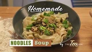 Food Tutorial - How to make Homemade Chinese Noodles Soup