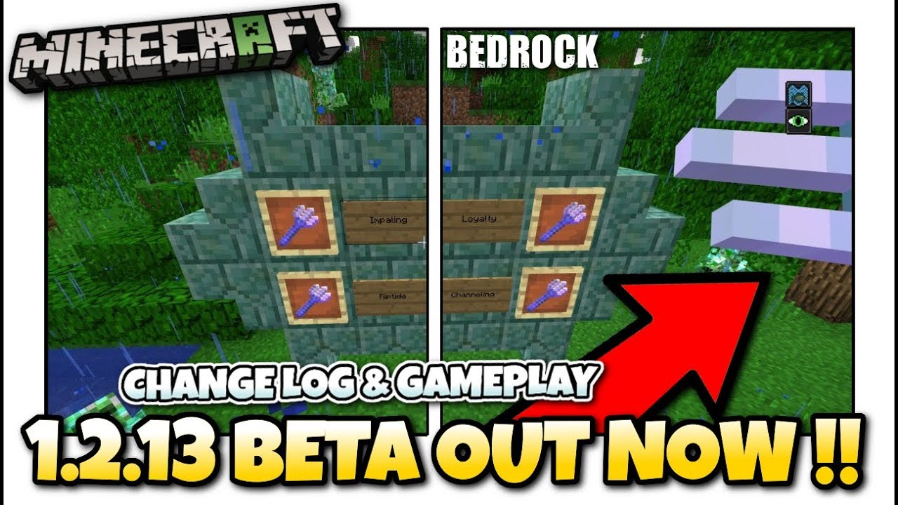 Minecraft - TRIDENTS ! 1 2 13 11 BETA OUT NOW ! Update