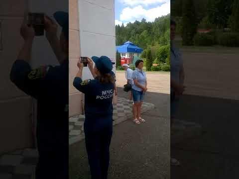 """Пожарная эвакуация в лагере """"Ландыш"""""""
