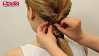 Szybka fryzura - przekładany kucyk