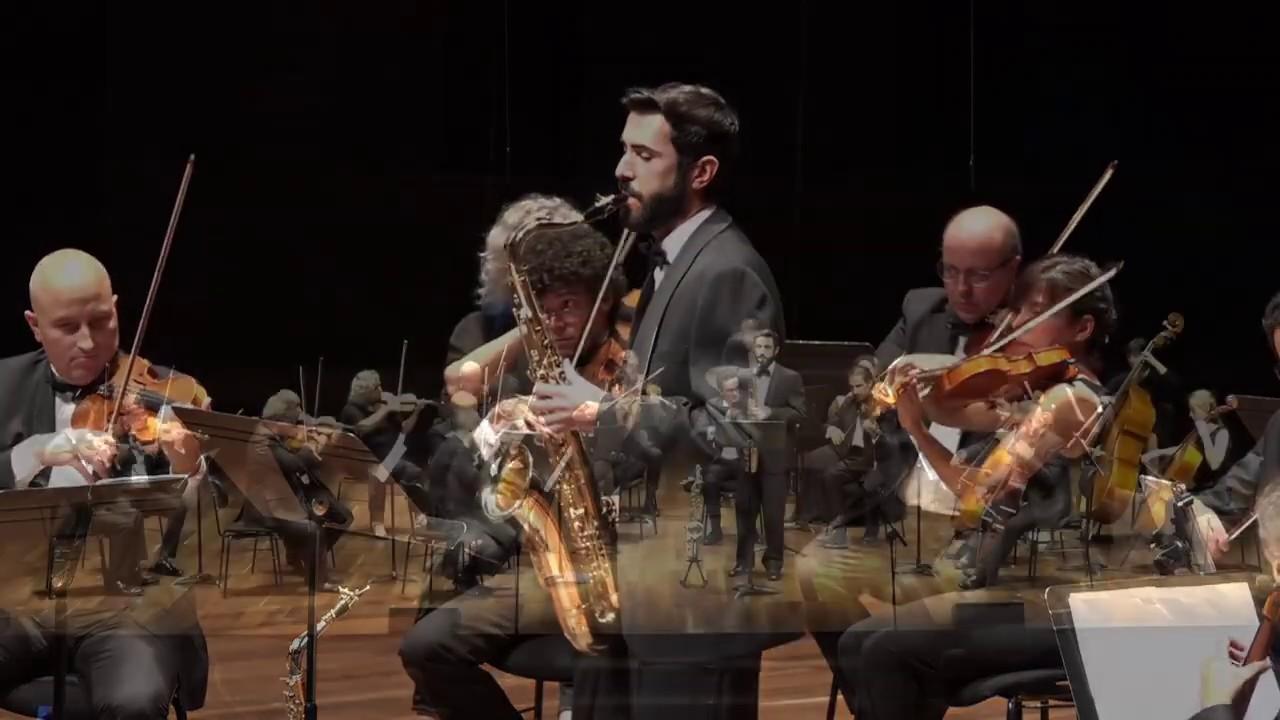 FLORES CHAVIANO_Danzón Gran Vía. Guillermo Rodríguez Palacio (saxofón) y Orquesta de Cámara Ibérica.