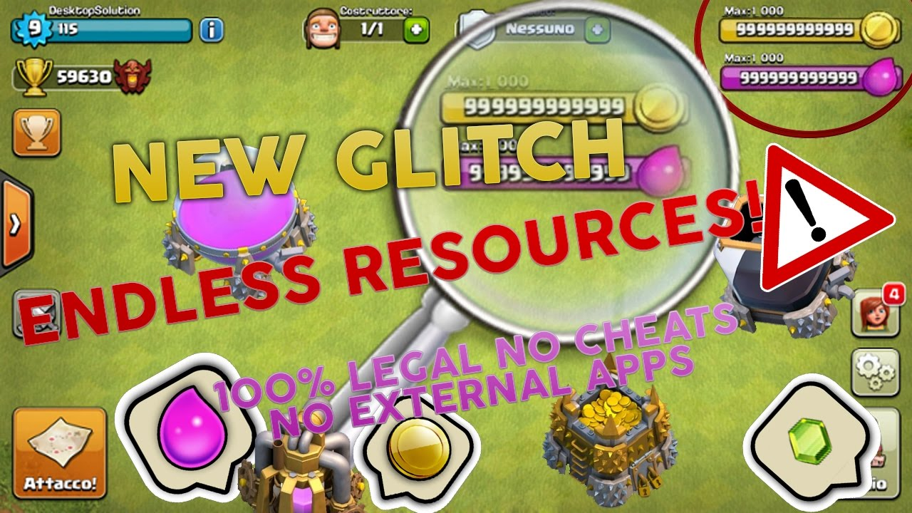 Clash of clans glitch 2017 bug endless resources 100 legal no clash of clans glitch 2017 bug endless resources 100 legal no cheats no external apps ccuart Gallery