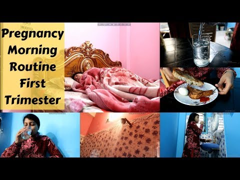 Pregnancy Morning Routine FIRST TRIMESTER || Pregnancy Vlogs || makeUbeautiful