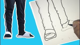 HOW I DRAW CARTOON SHOES AND SLIDES!