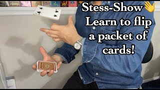LEARN HOW TO FLIP A PACKET OF CARDS// Stess-Show Vol4// Swing Cut Tutorial
