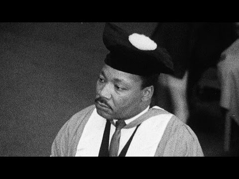Martin Luther King at Newcastle University (1967)