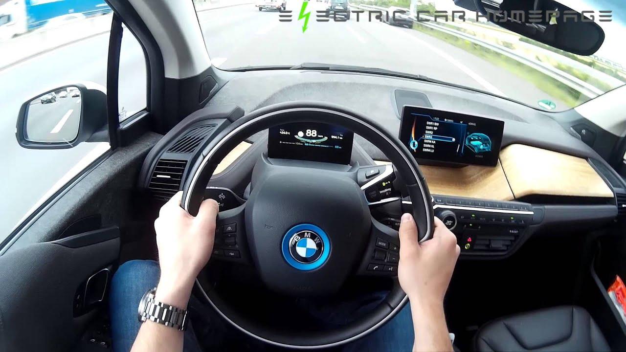 bmw i3 2015 pov driver view test drive electric car on german