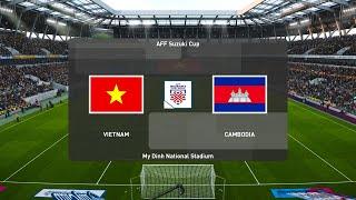 AFF Suzuki Cup 2021 - MATCHDAY 1 | VIETNAM vs CAMBODIA | PES 2020