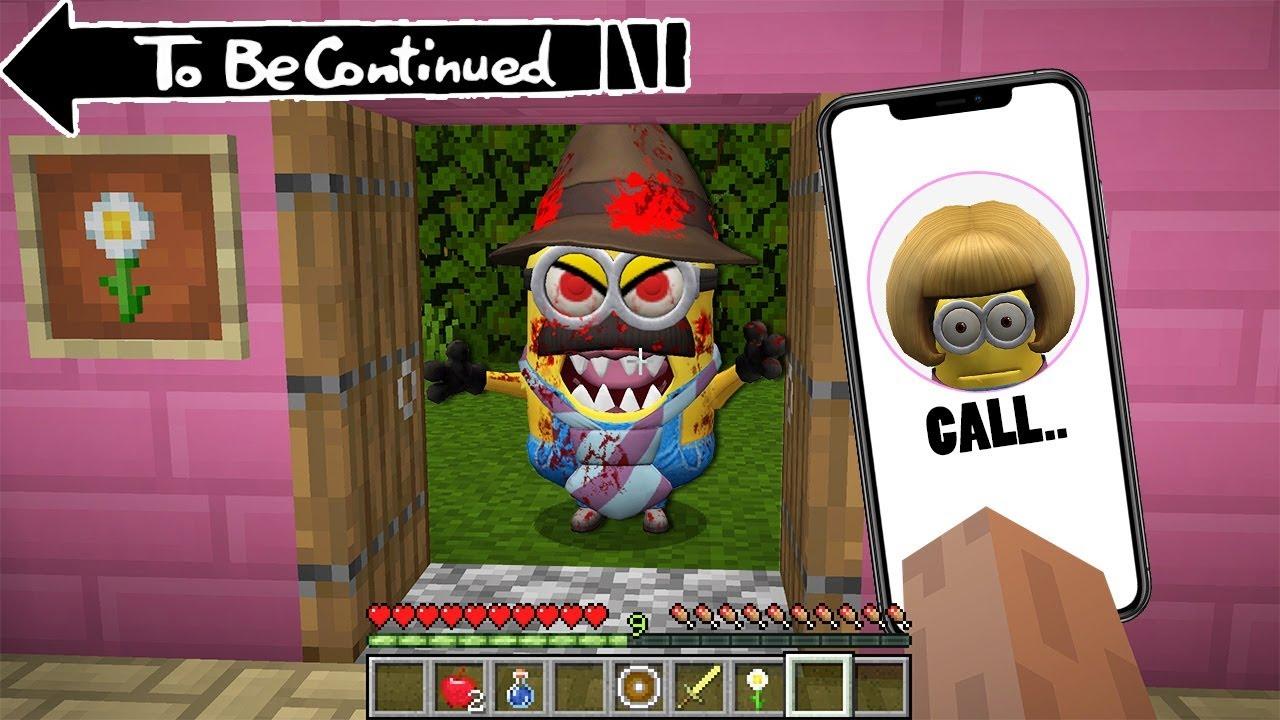 DON'T CALL to MOM MINION in minecraft - coffin meme traps Minion.exe