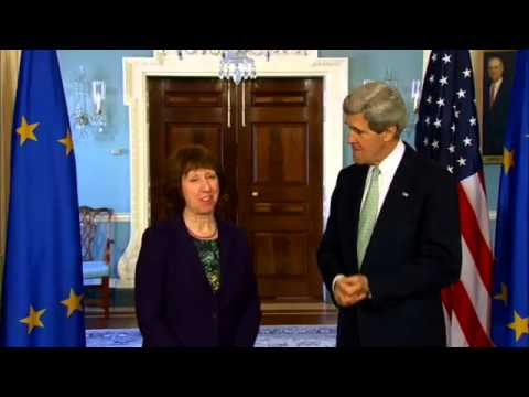 US Secretary John Kerry Delivers Remarks With High Representative of the EU Ashton